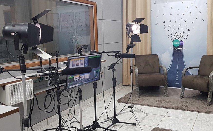 Estúdio da WebTV RenovAção